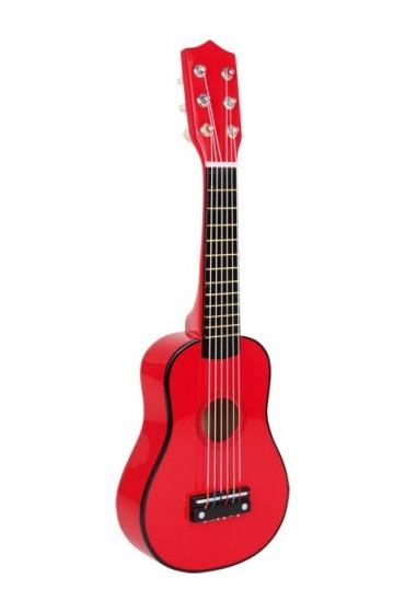 Guitarra roja niños pequeños