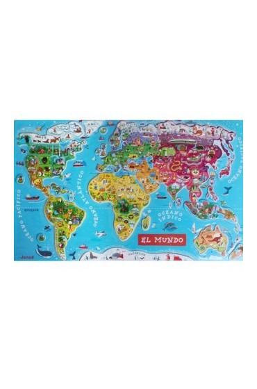 Puzzle Mapa mundi magnético